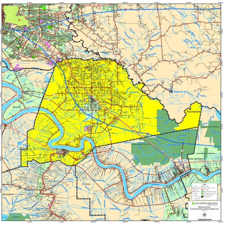Tensas Parish Map
