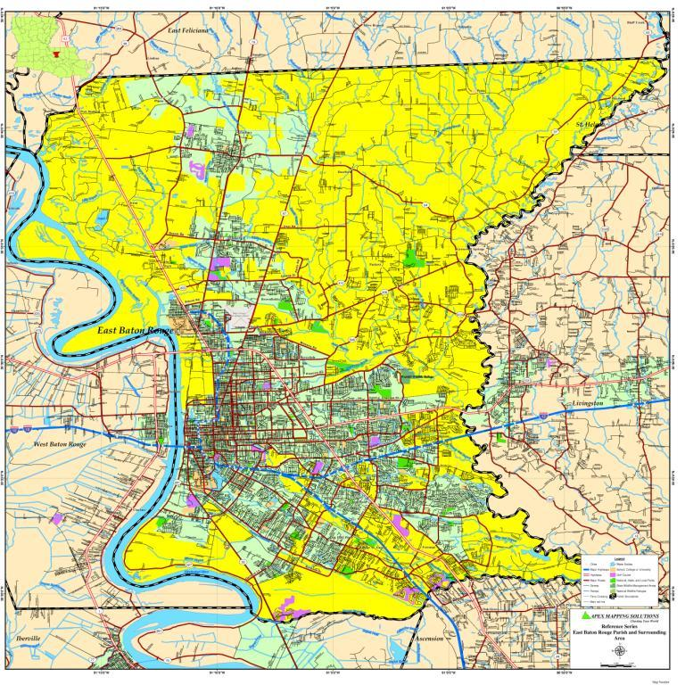 Baton Rouge City Map Httpapexmappingsolutionsebr